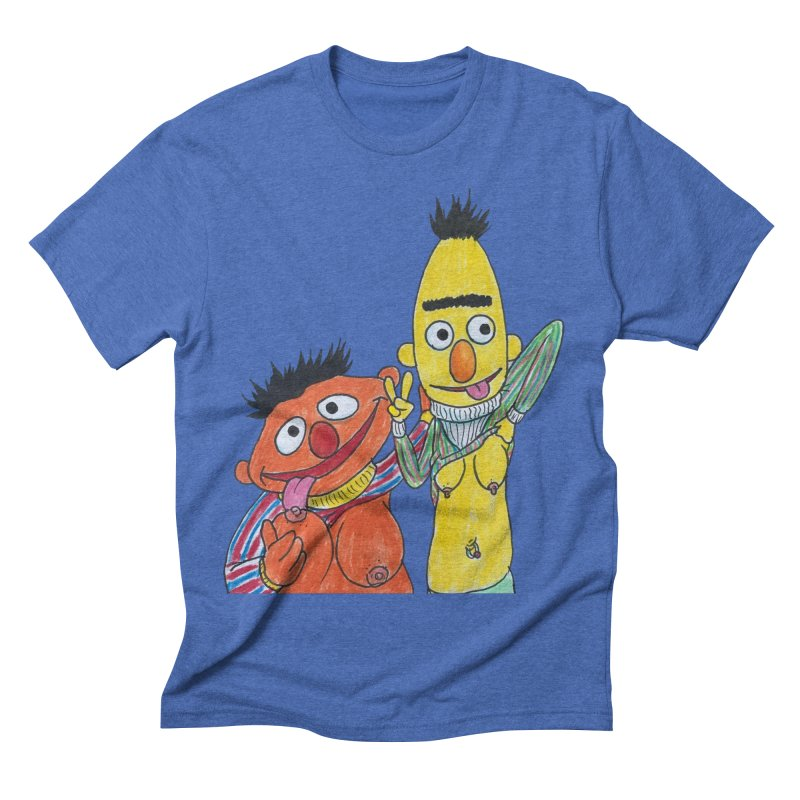 Nert and Bernie Men's Triblend T-shirt by Jim Tozzi