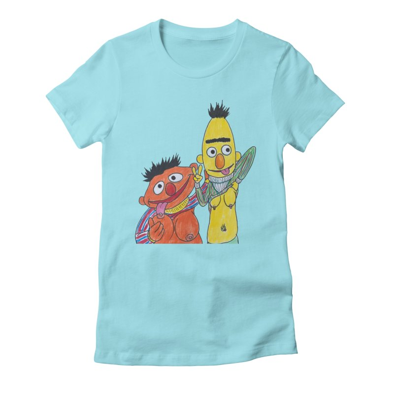 Nert and Bernie Women's Fitted T-Shirt by Jim Tozzi