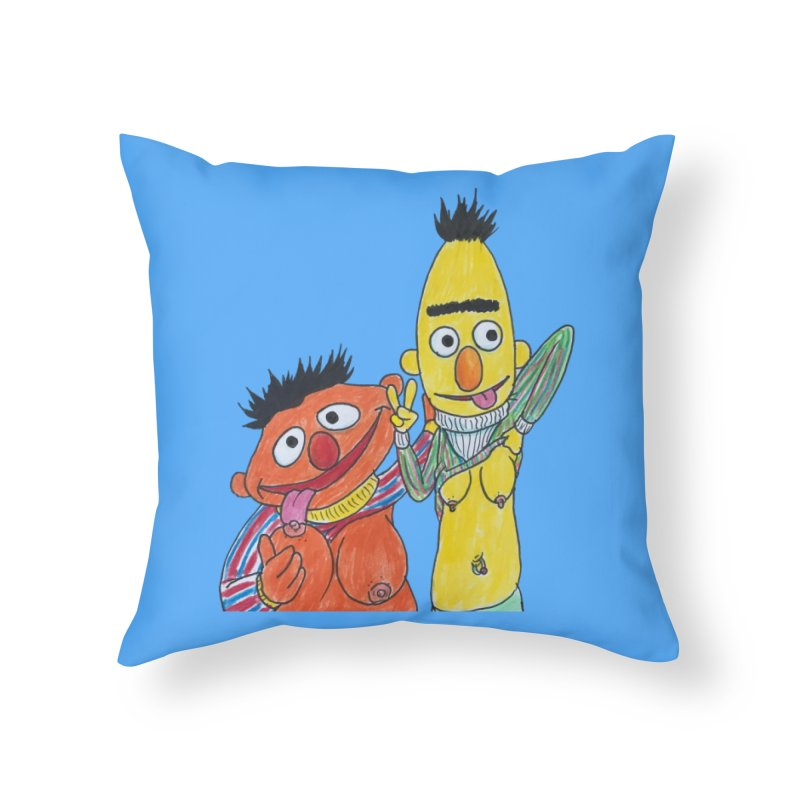 Nert and Bernie Home Throw Pillow by Jim Tozzi