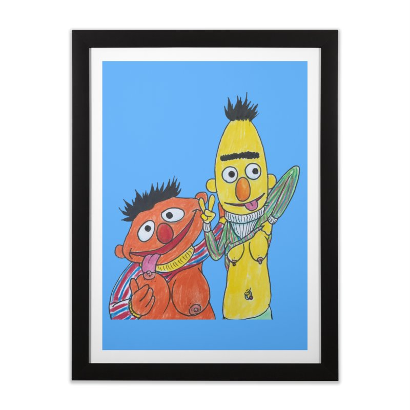 Nert and Bernie Home Framed Fine Art Print by Jim Tozzi