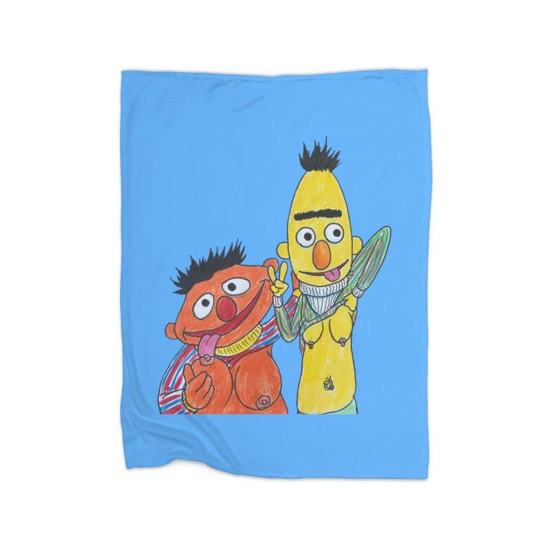 Nert and Bernie Home Blanket by Jim Tozzi