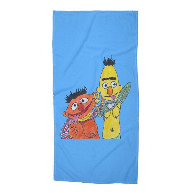 Nert and Bernie Accessories Beach Towel by Jim Tozzi