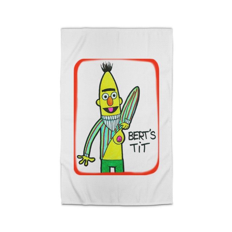 Bert's tit Home Rug by Jim Tozzi