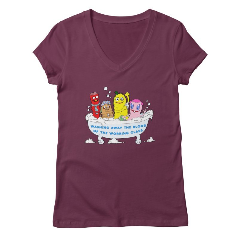 Wondershowzen  Women's V-Neck by Jim Tozzi