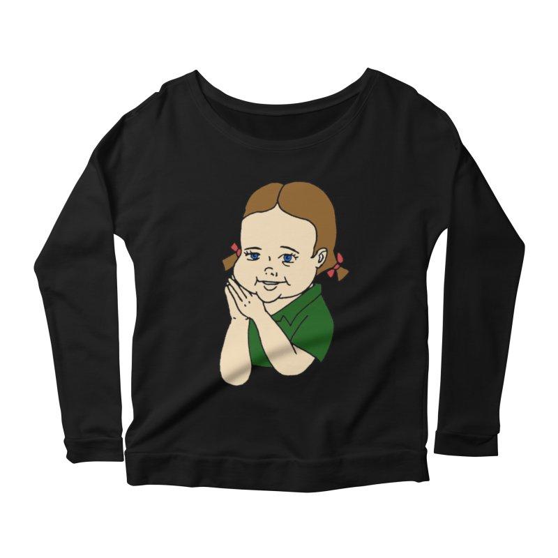 Kids Show Women's Scoop Neck Longsleeve T-Shirt by Jim Tozzi