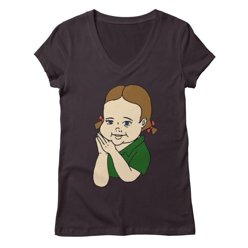 Kids Show Women's Regular V-Neck by Jim Tozzi