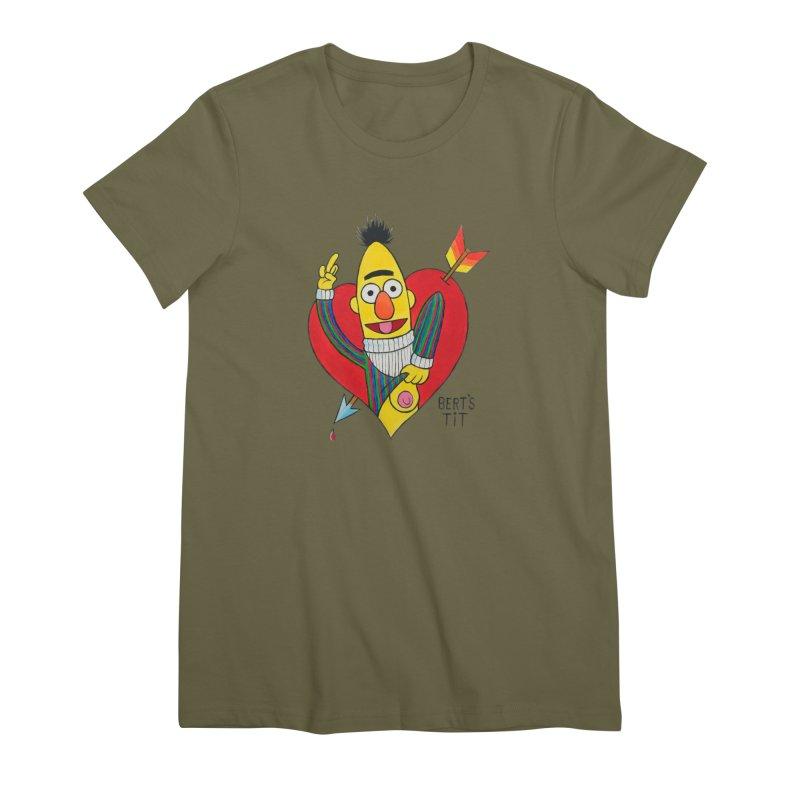 Bert's tit cupid Women's Premium T-Shirt by Jim Tozzi