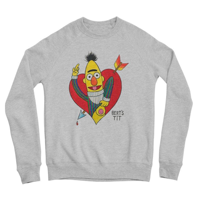 Bert's tit cupid Men's Sponge Fleece Sweatshirt by Jim Tozzi