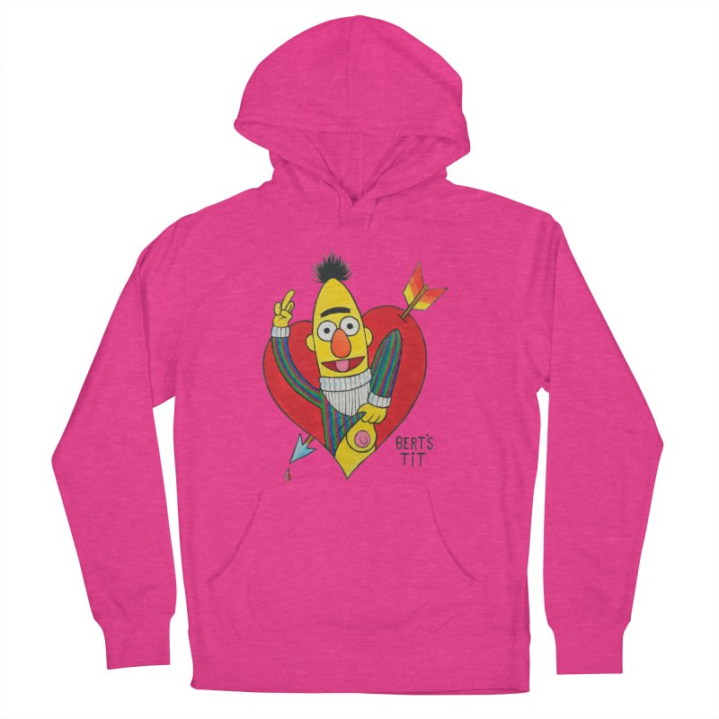 Bert's tit cupid Women's French Terry Pullover Hoody by Jim Tozzi