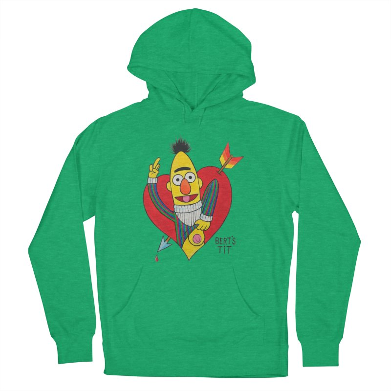 Bert's tit cupid Men's French Terry Pullover Hoody by Jim Tozzi