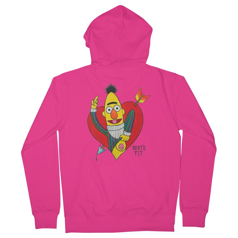 Bert's tit cupid Men's French Terry Zip-Up Hoody by Jim Tozzi