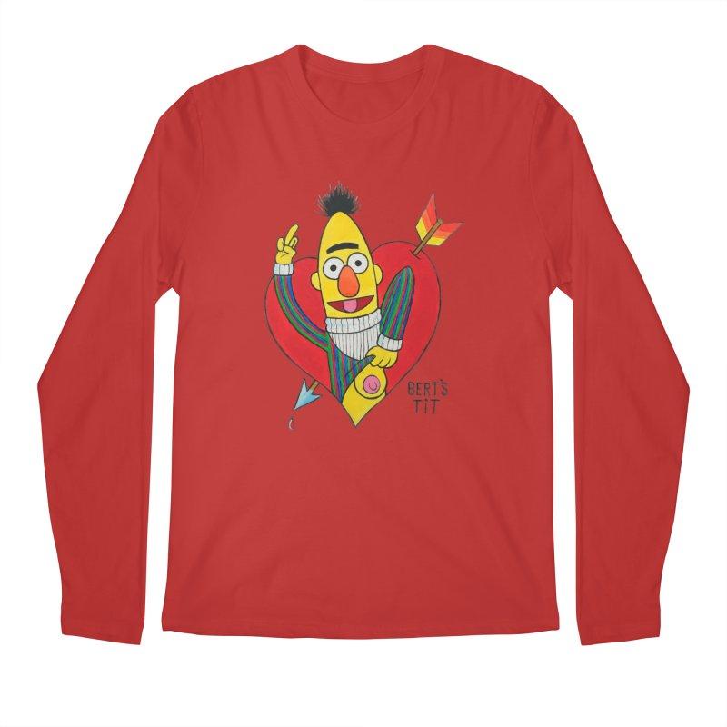 Bert's tit cupid Men's Longsleeve T-Shirt by Jim Tozzi