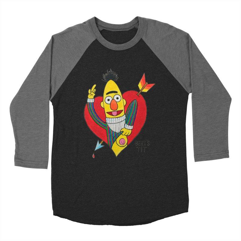Bert's tit cupid Women's Baseball Triblend Longsleeve T-Shirt by Jim Tozzi