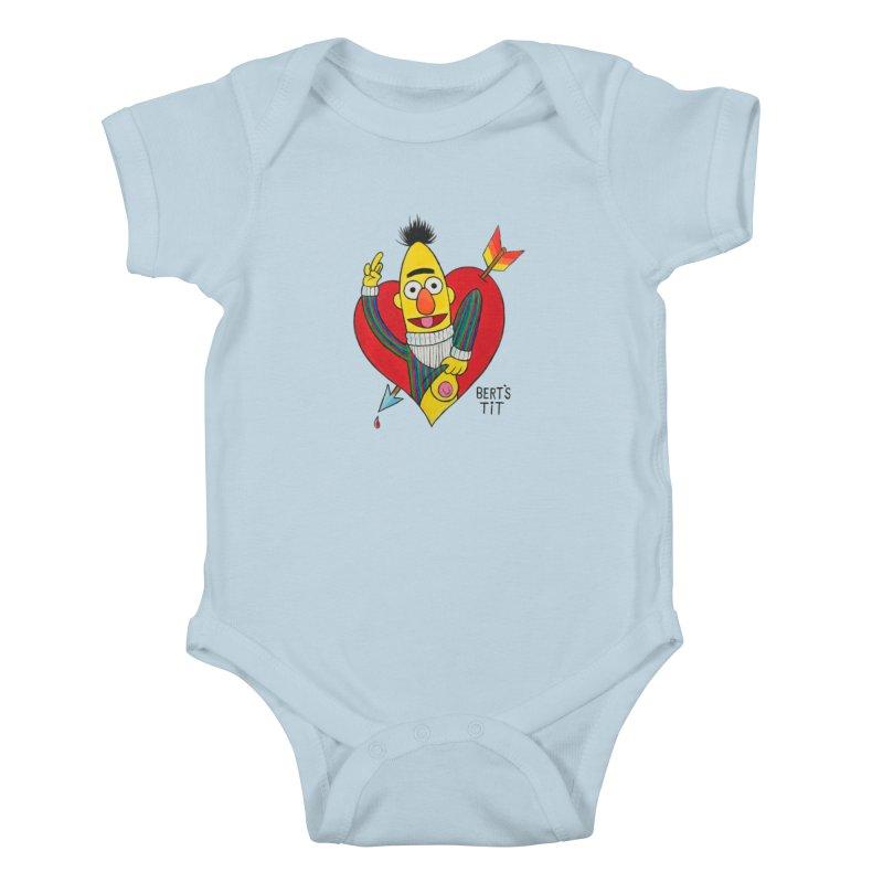 Bert's tit cupid Kids Baby Bodysuit by Jim Tozzi