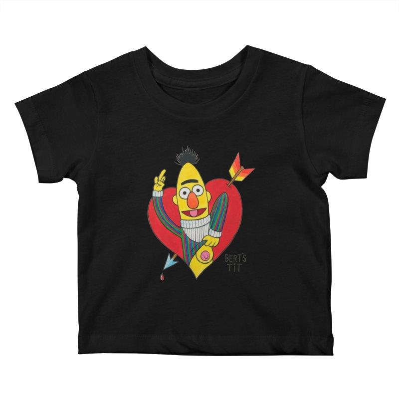 Bert's tit cupid Kids Baby T-Shirt by Jim Tozzi