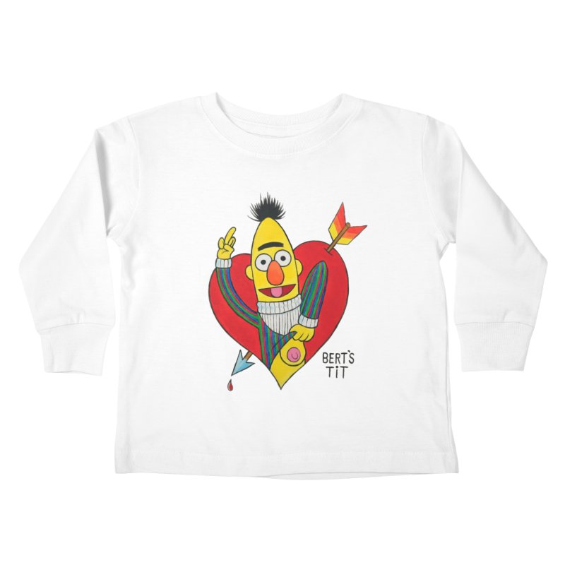 Bert's tit cupid Kids Toddler Longsleeve T-Shirt by Jim Tozzi