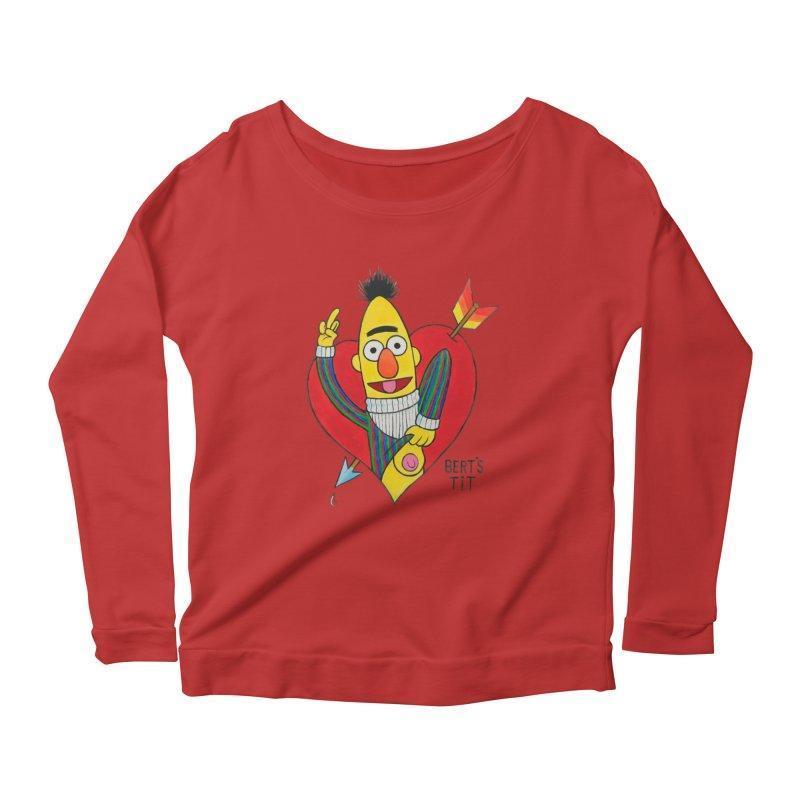 Bert's tit cupid Women's Scoop Neck Longsleeve T-Shirt by Jim Tozzi