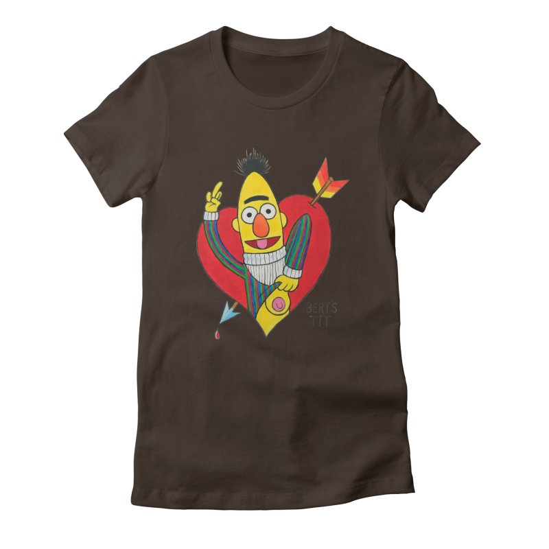 Bert's tit cupid Women's Fitted T-Shirt by Jim Tozzi