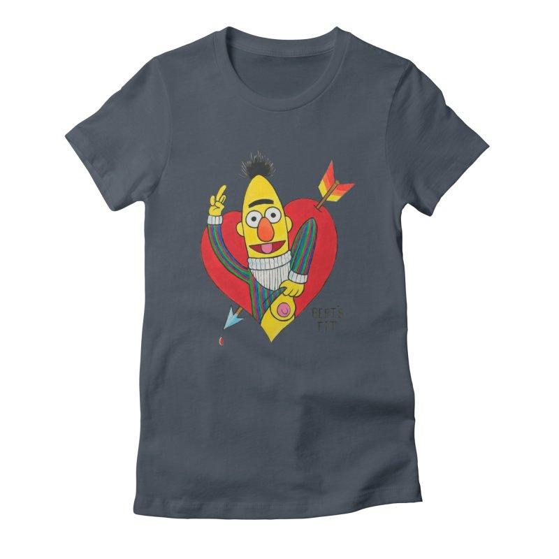 Bert's tit cupid Women's Fitted T-Shirt by Jim Tozzi