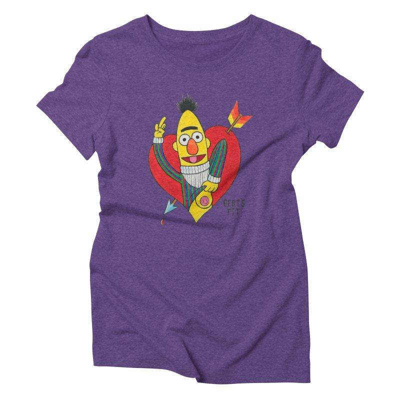 Bert's tit cupid Women's Triblend T-Shirt by Jim Tozzi