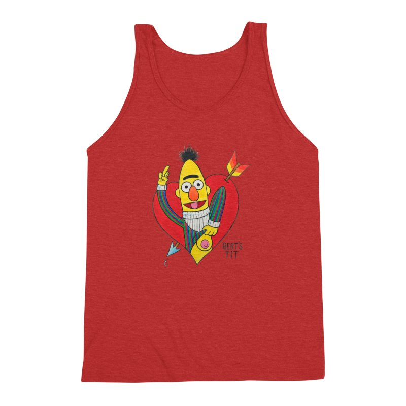 Bert's tit cupid Men's Triblend Tank by Jim Tozzi