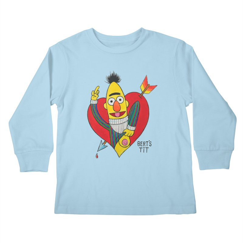 Bert's tit cupid Kids Longsleeve T-Shirt by Jim Tozzi
