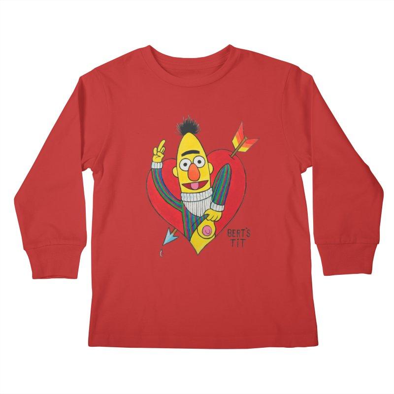 Bert's tit cupid Kids Longsleeve T-Shirt by Jim Tozzi