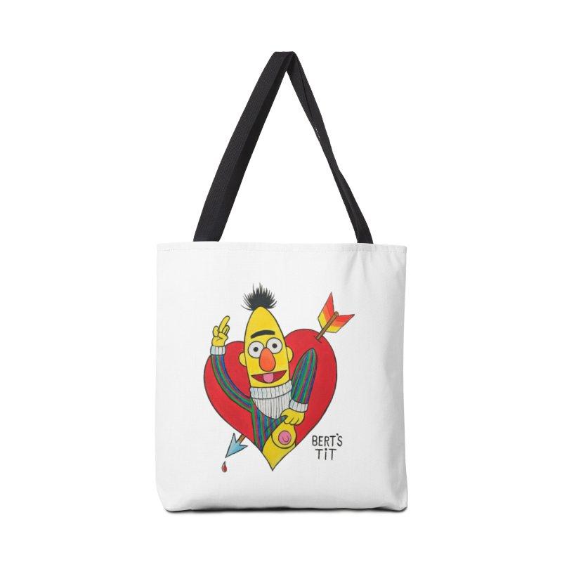 Bert's tit cupid Accessories Bag by Jim Tozzi