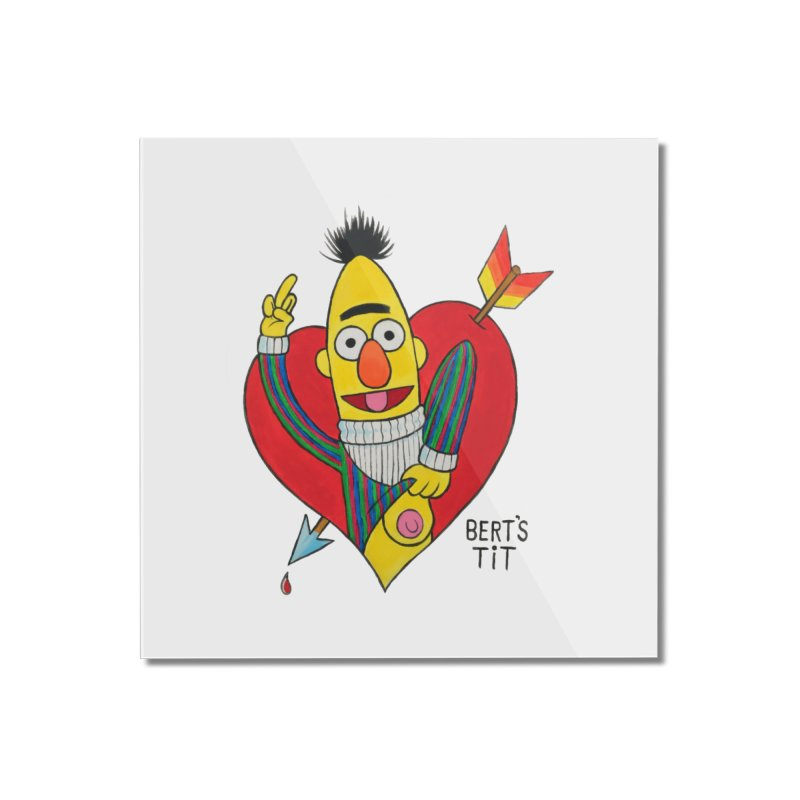 Bert's tit cupid Home Mounted Acrylic Print by Jim Tozzi