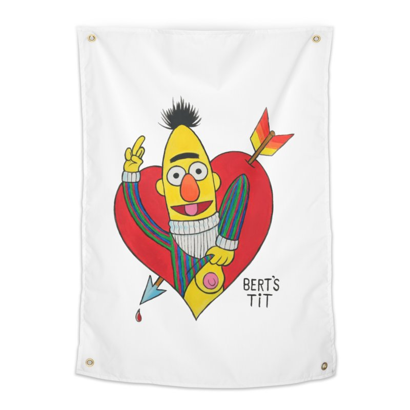 Bert's tit cupid Home Tapestry by Jim Tozzi
