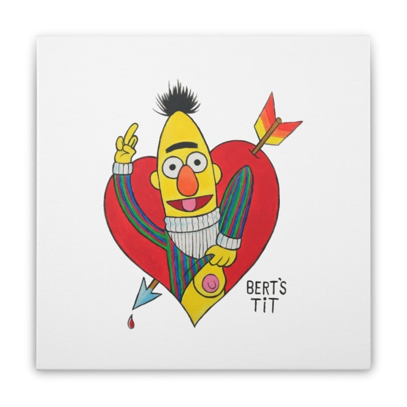 Bert's tit cupid Home Stretched Canvas by Jim Tozzi