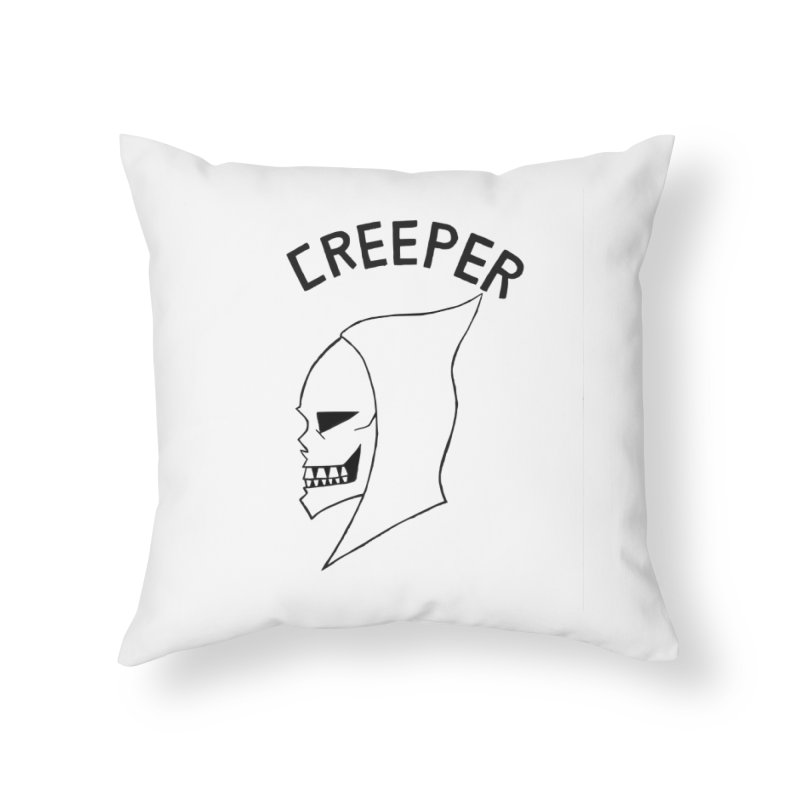 CREEPER Home Throw Pillow by Jim Tozzi