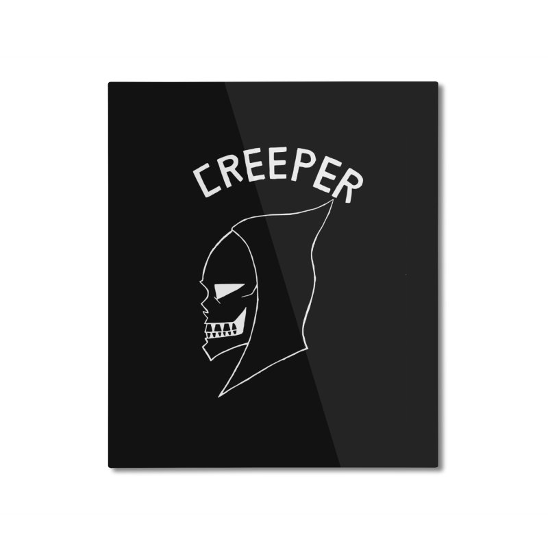 creeper invert Home Mounted Aluminum Print by Jim Tozzi