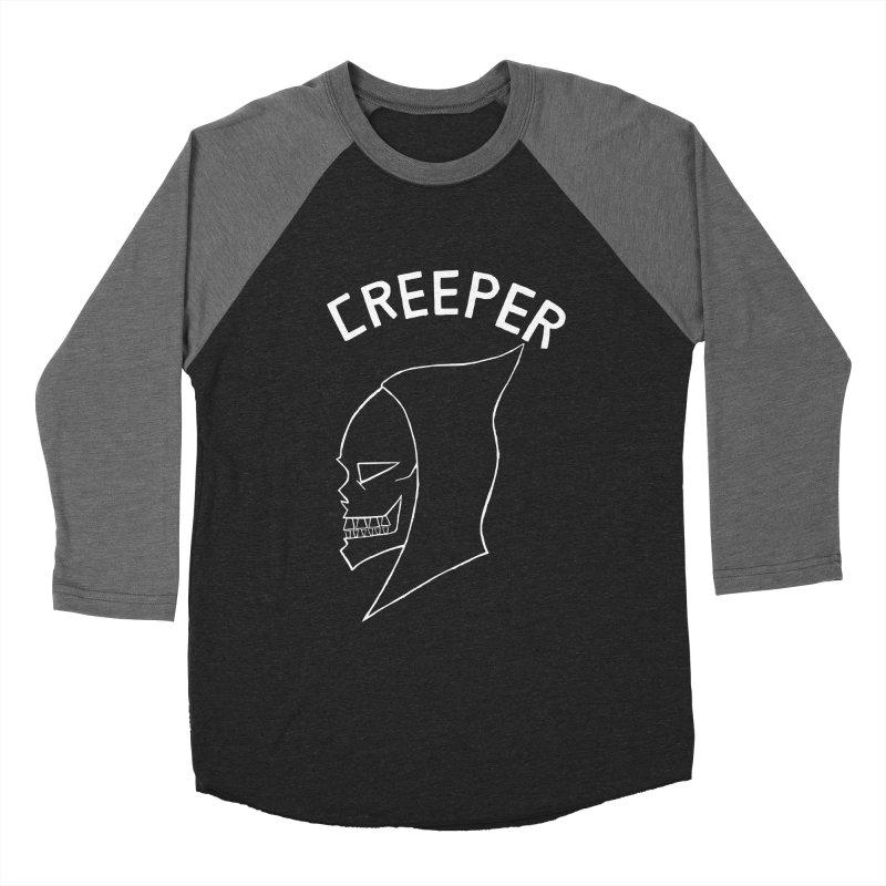 creeper invert Men's Baseball Triblend T-Shirt by Jim Tozzi