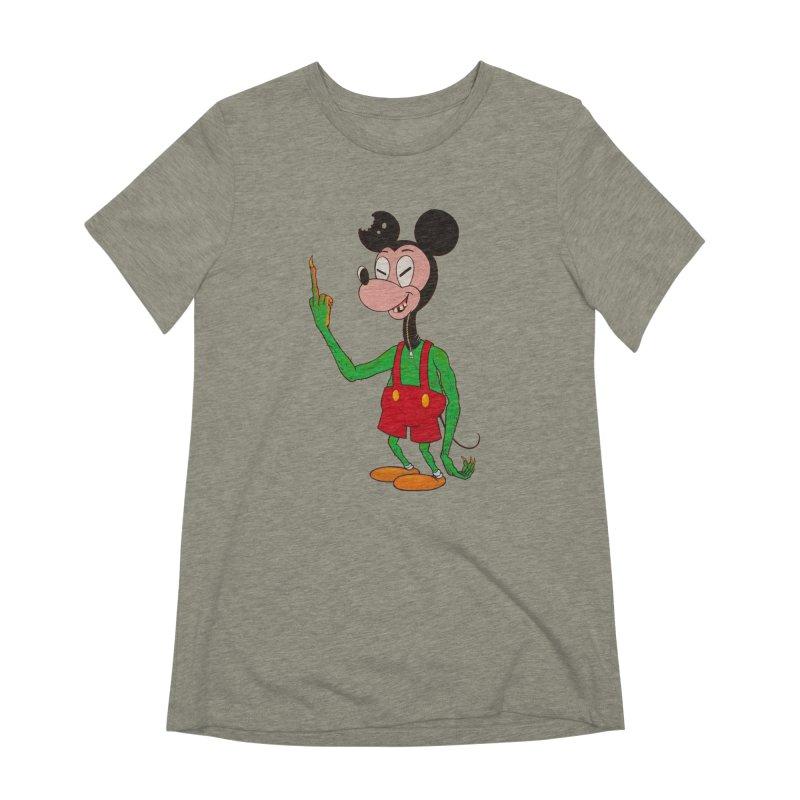 flippin mouse Women's Extra Soft T-Shirt by Jim Tozzi