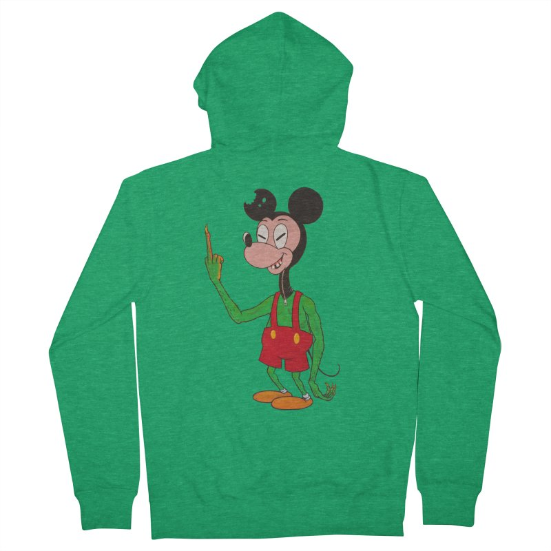 flippin mouse Men's Zip-Up Hoody by Jim Tozzi