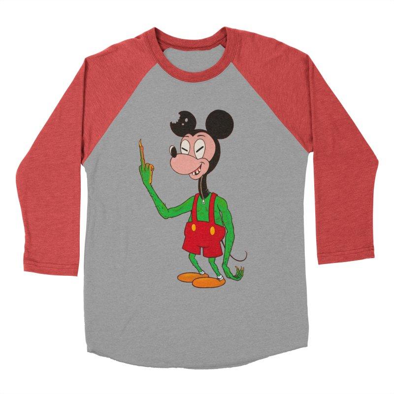 flippin mouse Men's Baseball Triblend T-Shirt by Jim Tozzi