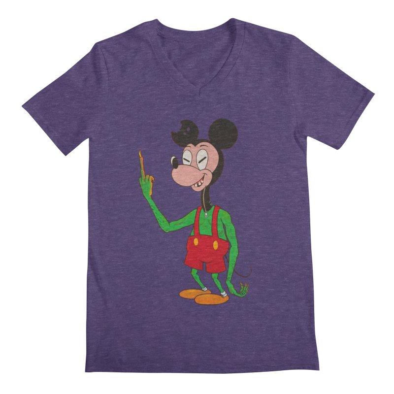 flippin mouse Men's V-Neck by Jim Tozzi