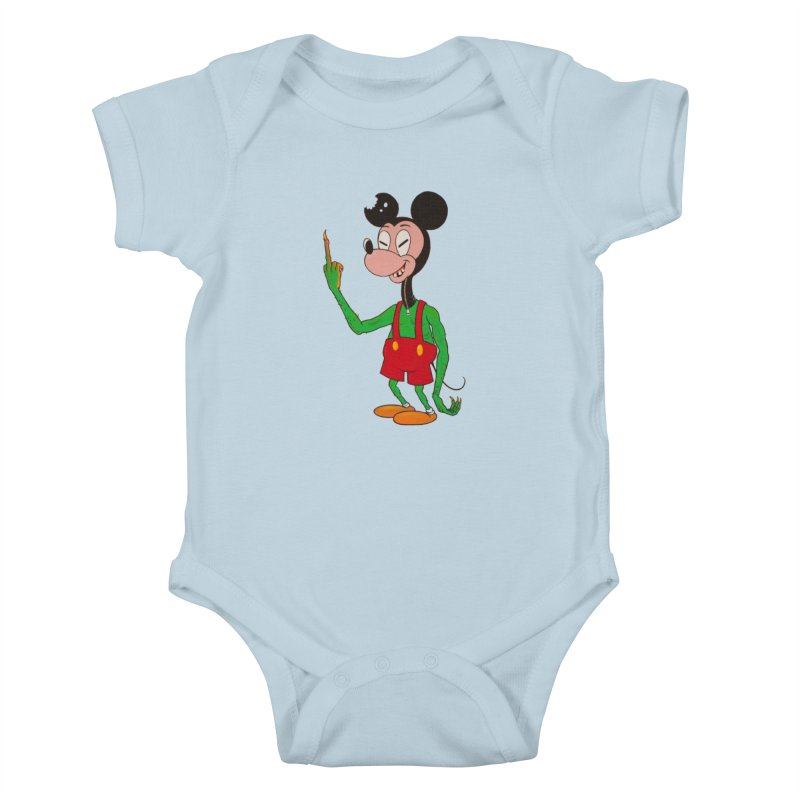 flippin mouse Kids Baby Bodysuit by Jim Tozzi