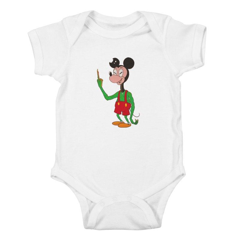 flippin mouse Kids Baby Bodysuit by Jim Tozzi