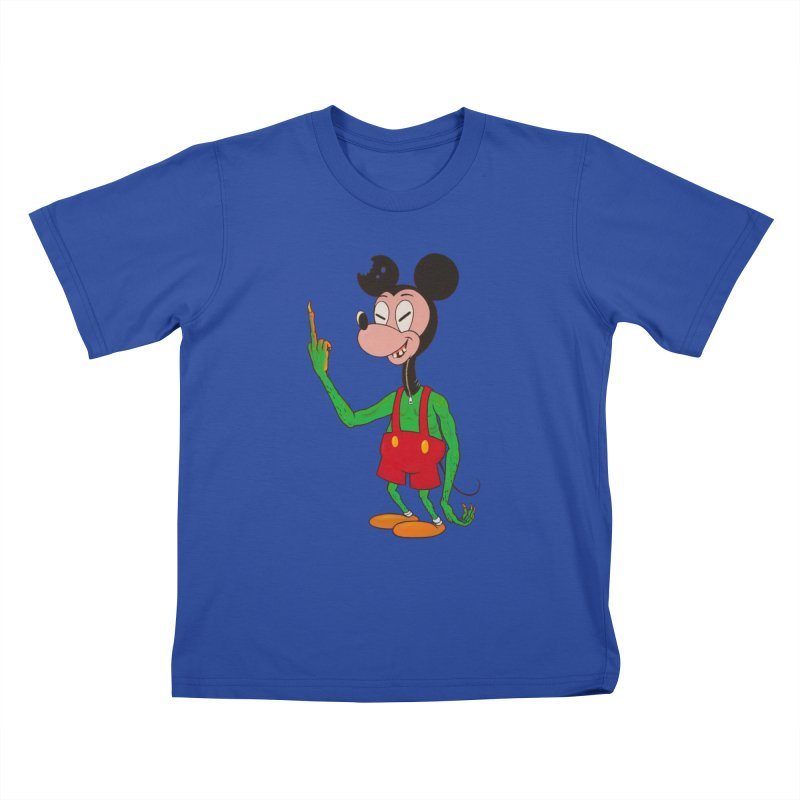 flippin mouse Kids T-shirt by Jim Tozzi