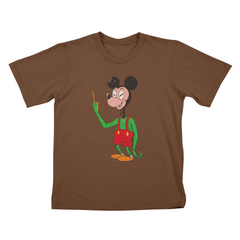 flippin mouse Kids T-shirt by Jim Tozzi