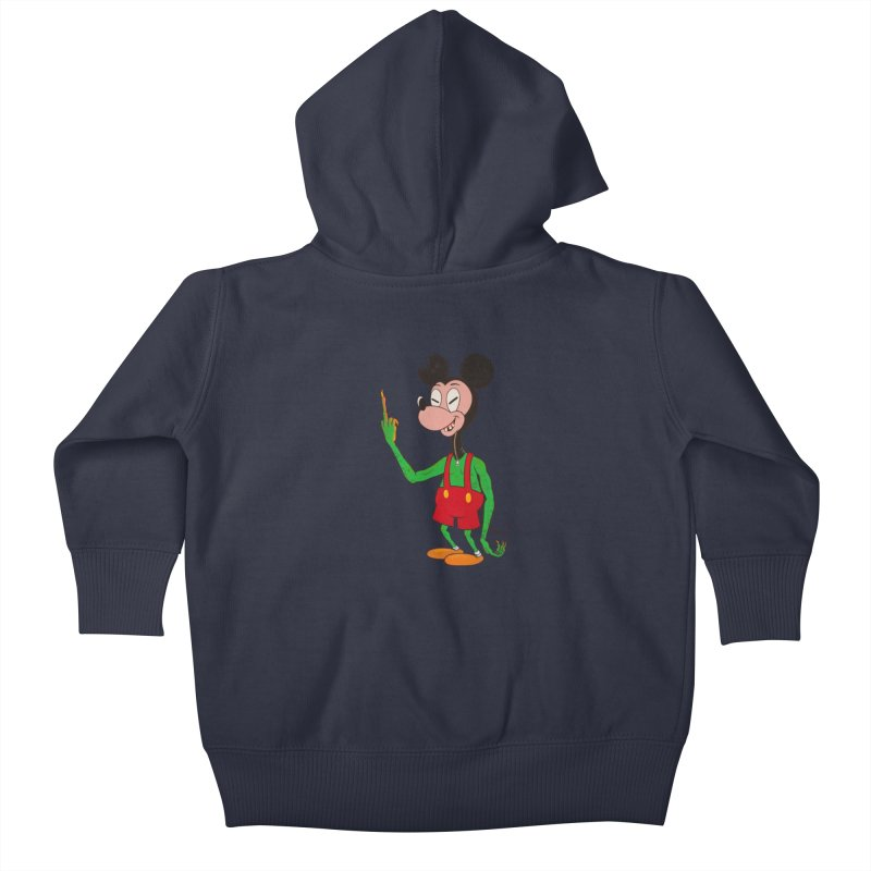 flippin mouse Kids Baby Zip-Up Hoody by Jim Tozzi