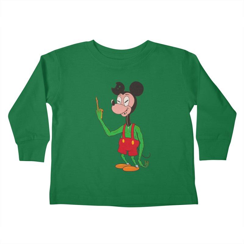 flippin mouse Kids Toddler Longsleeve T-Shirt by Jim Tozzi