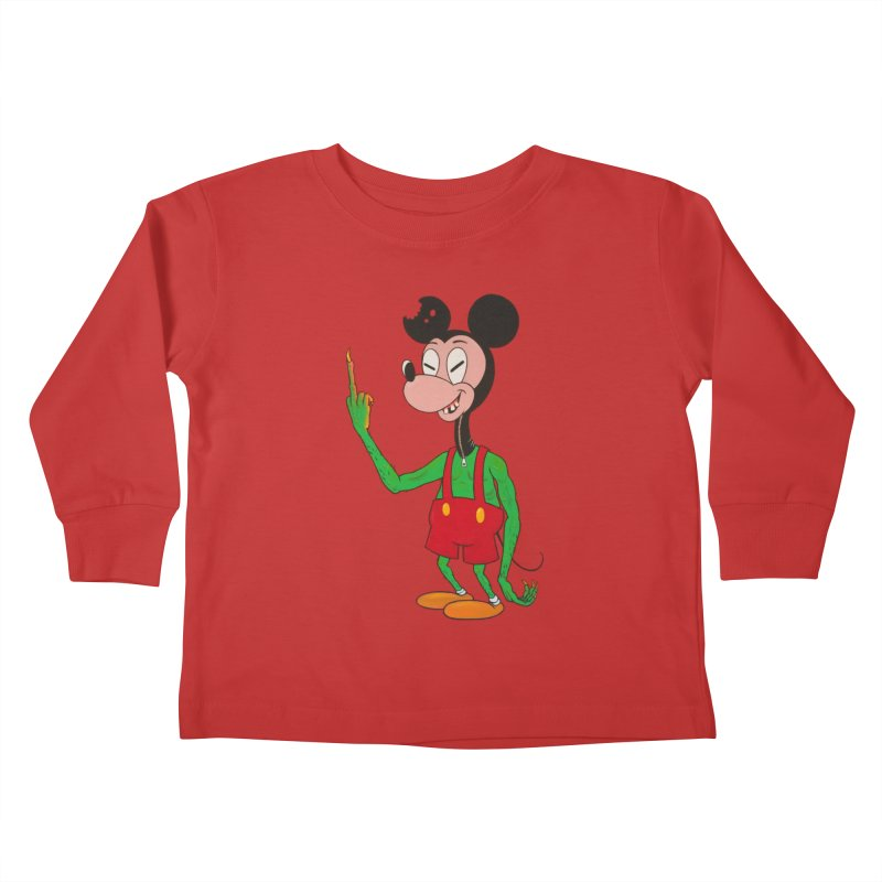 flippin mouse Kids Toddler Longsleeve T-Shirt by Jim Tozzi