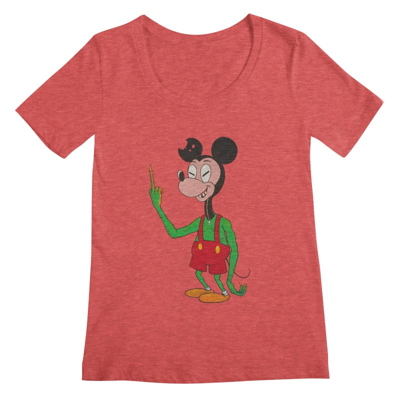 flippin mouse Women's Scoopneck by Jim Tozzi