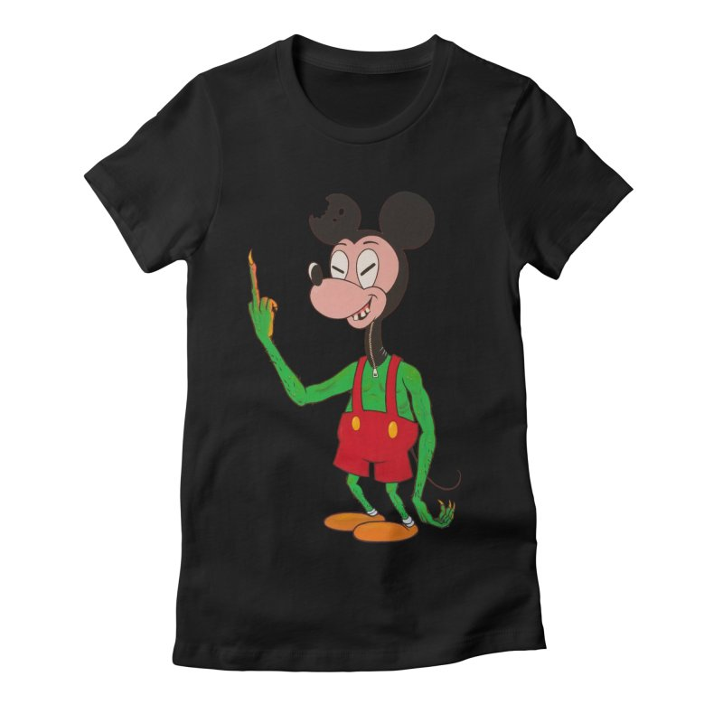flippin mouse Women's Fitted T-Shirt by Jim Tozzi