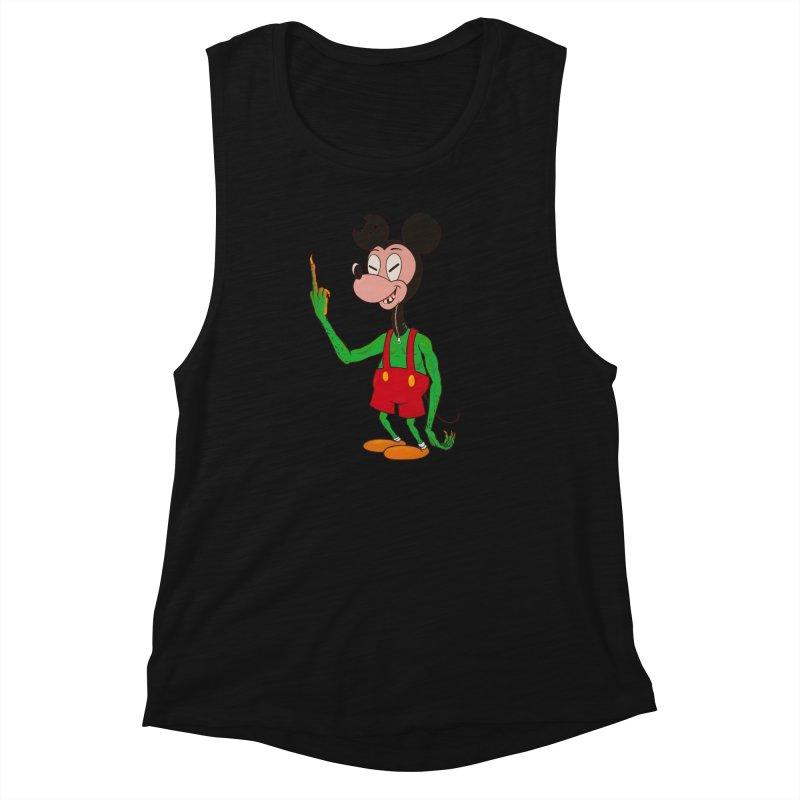flippin mouse Women's Muscle Tank by Jim Tozzi