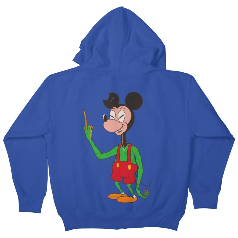 flippin mouse Kids Zip-Up Hoody by Jim Tozzi