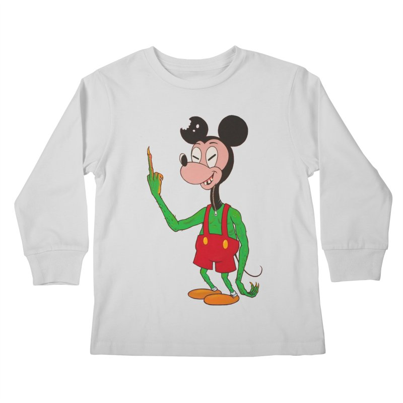 flippin mouse Kids Longsleeve T-Shirt by Jim Tozzi